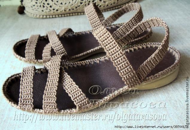 Вязаные сандалии для взрослых крючком: схемы, разные модели