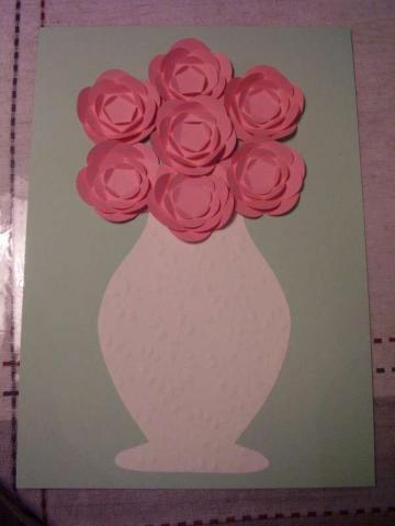 Для творчества с детьми. Ваза с цветами из бумаги (13) (360x480, 74Kb)