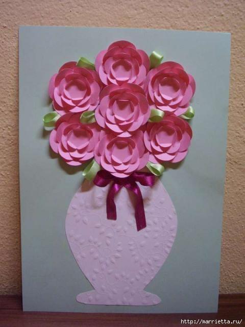 Для творчества с детьми. Ваза с цветами из бумаги (17) (480x640, 117Kb)