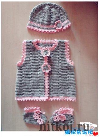 Одежда крючком для детей до 12 месяцев. Японский журнал.