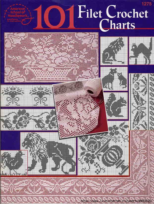 101 Filet Crochet Charts fc (529x700, 427Kb)