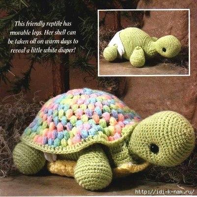 Вязание крючком черепаха со схемой 865