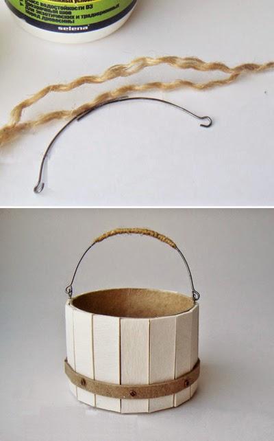 Горшочек для икебаны в виде бочонка
