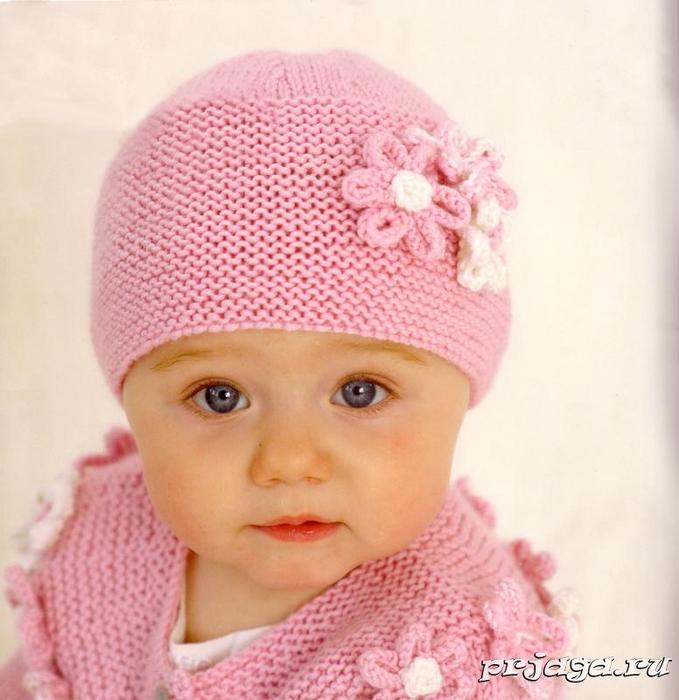 вязание детских шапочек спицами самое интересное в блогах