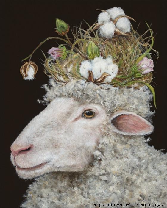 Открытка с овечкой фото
