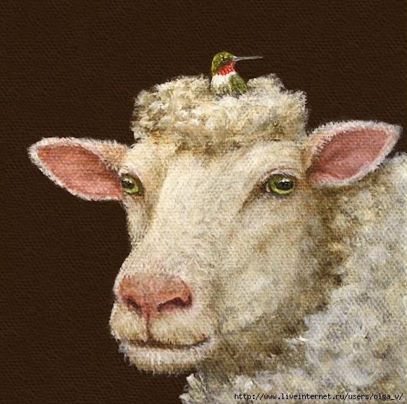Днем, овечки картинки для декупажа