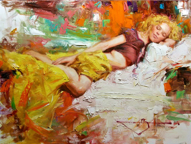 Women_Paintings_by_Kevin_Beilfuss_6 (670x506, 174Kb)
