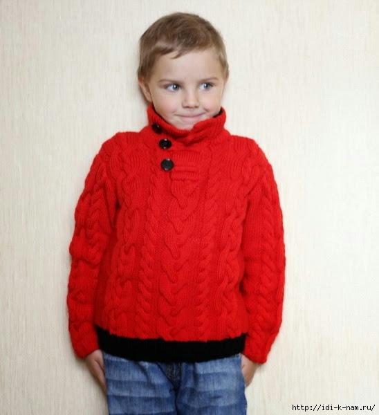 Связать детский свитер схема 706
