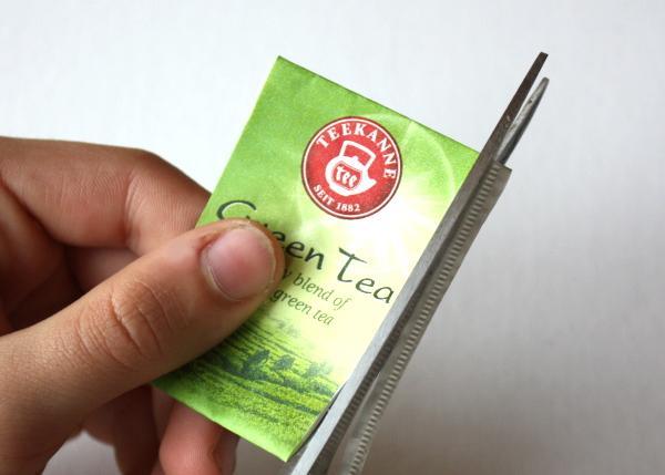 открытка елочка из чайных пакетиков