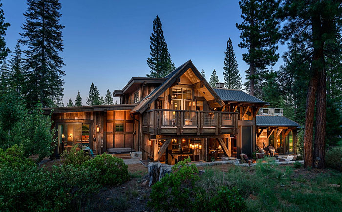 самый красивый деревянный дом фото