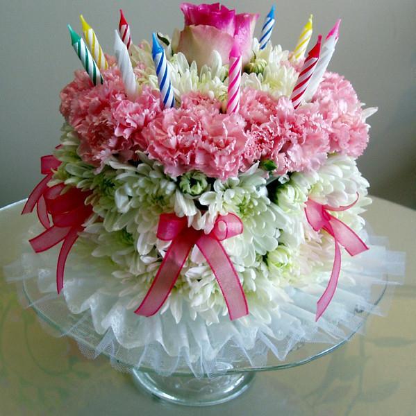 Открытки торт с днем рождения женщине
