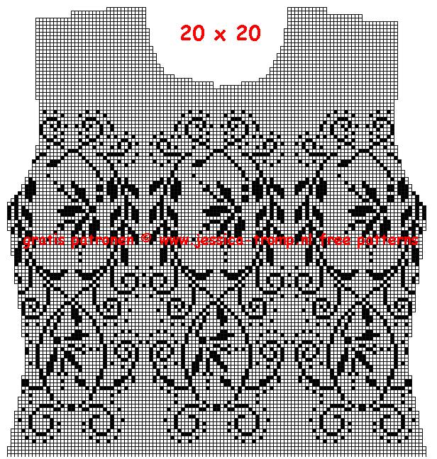 рисунок для майки спицами
