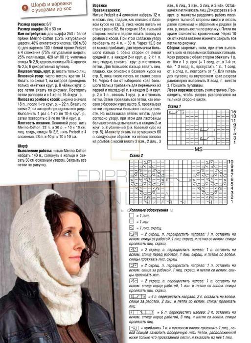 шарф труба спицами схема вязания фото увидите