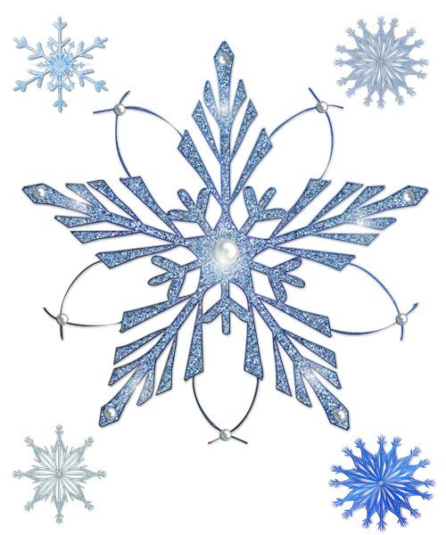 снежинки на прозрачном фоне картинки