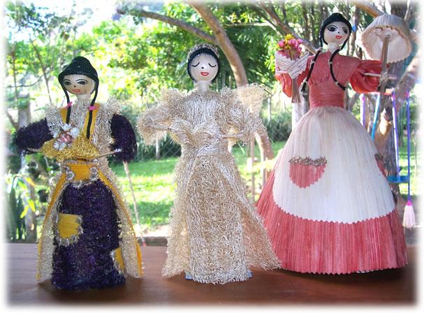 куклы из мочалки, люфы, своими руками. Мастер класс