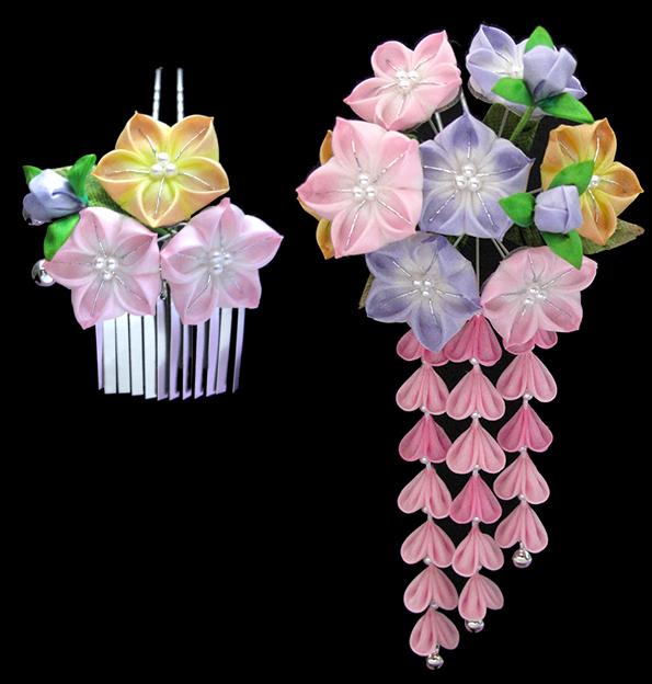 Японское искусство канзаши мастер класс листочков для цветка пошаговый #11