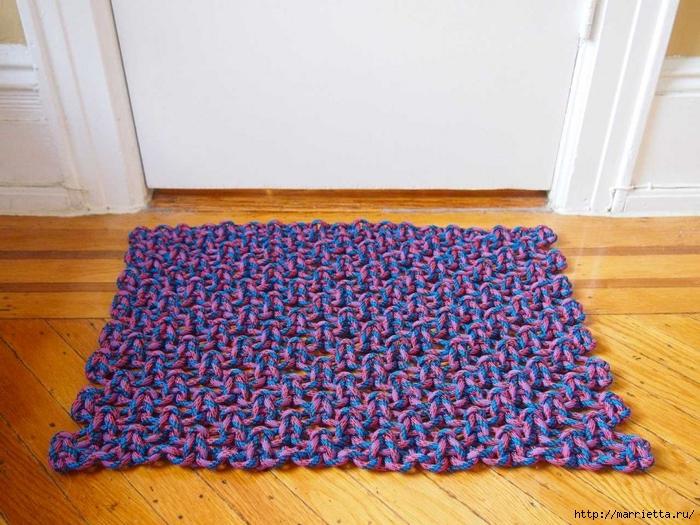 Коврики крючком, вязаные коврики крючком, коврик крючком схема 86
