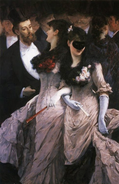 At the Masquerade, Charles Hermans (1839 - 1924) (454x700, 290Kb)