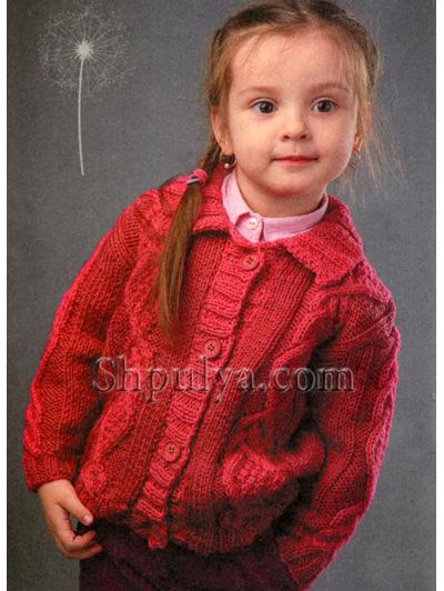 Вязание спицами детям девочками 32