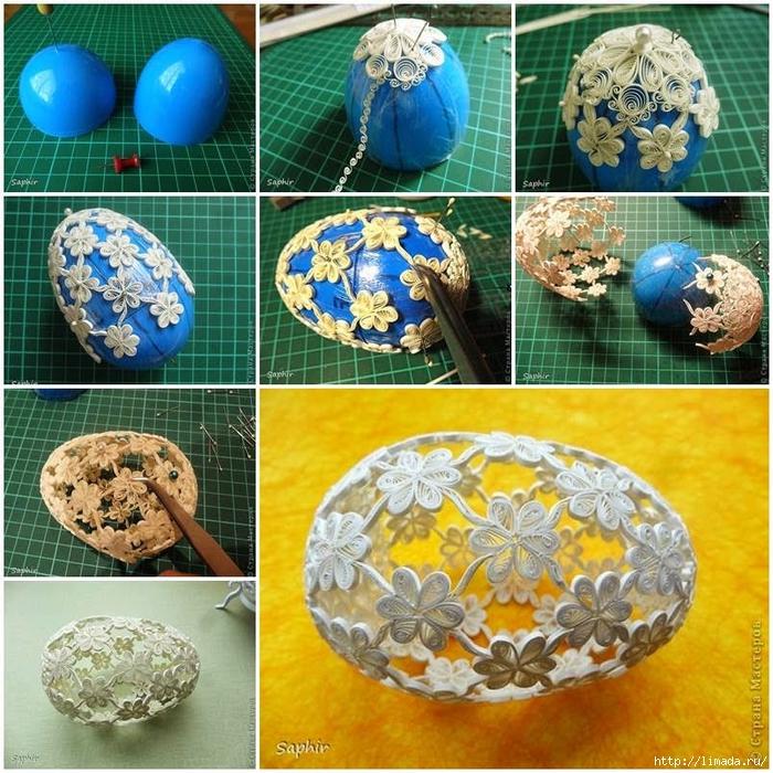 Яйца с термонаклейкой из бисера мастер класс подробно #11