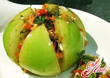 Салат кабачки зеленые помидоры