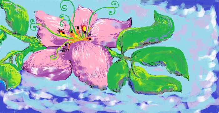 Открытка маме нарисованная в паинте, новым годом