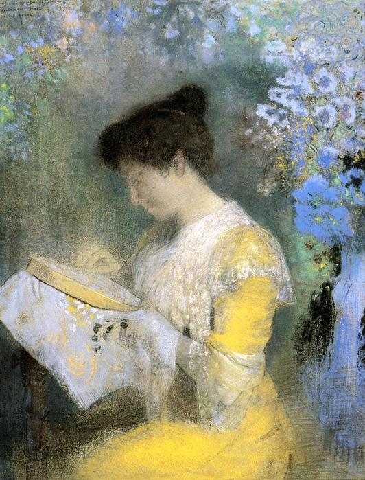 Odilon Redon Portrait of Madame Arthur Fontaine, 1905 (532x700, 82Kb)