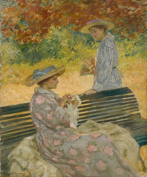 Rupert Bunny. An image of The garden bench (500x604, 84Kb)