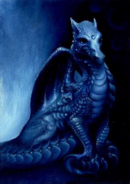 Синий дракон.
