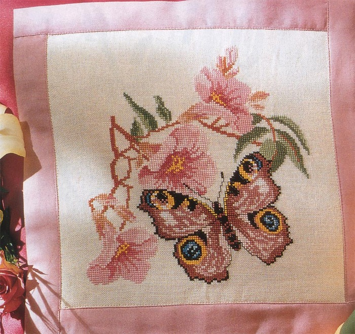 Набор для вышивки крестом Цветы на окне.