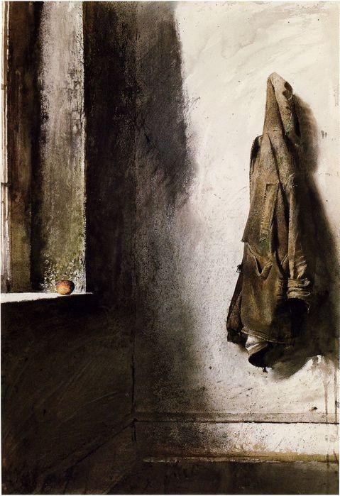 Andrew Wyeth   ,,Willard's Coat, 1968 (479x699, 68Kb)
