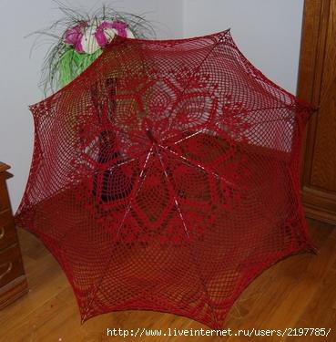 Зонтики вязаные крючком.  Схемы.