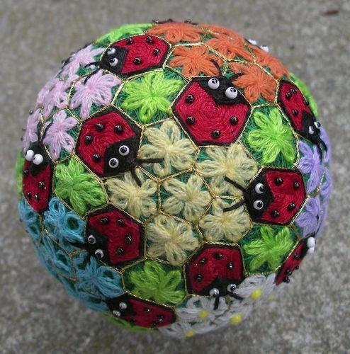 Японские шары темари мастер класс сделай сам #10