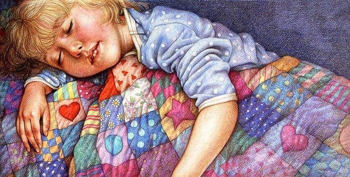 Лоскутное одеяло в живописи... часть 1.