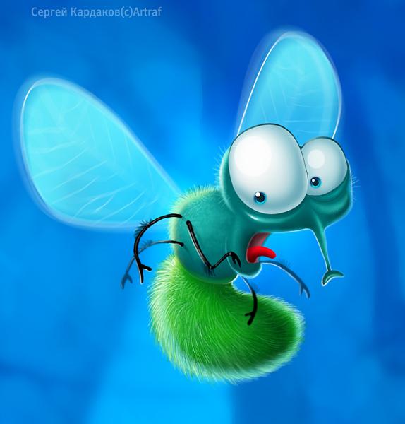 Прикольные картинки муха, радуга открыток открытка