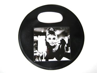 No Brand - Круглая сумка с принтом Одри Хепберн (арт.  S0020002) (размер)