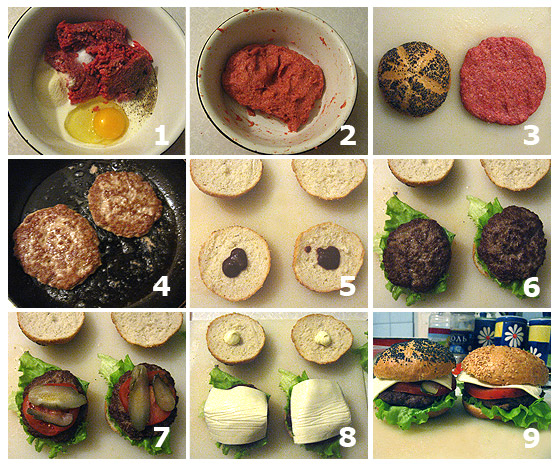 Как приготовить домашний гамбургер