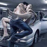 Удобство секс в машине