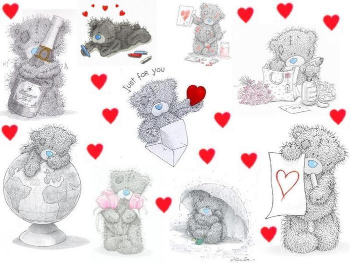 выполняют картинки мишек тедди на день святого валентина закладке