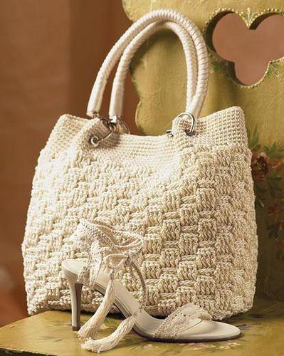 Вязаные сумки на Knitting-Info.ru.  27 моделей сумок, вязаных крючком.