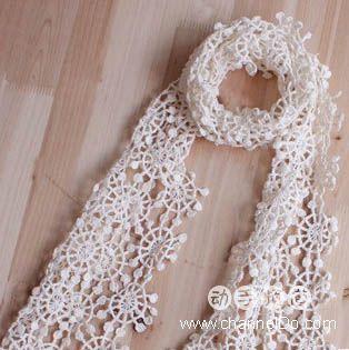 Вязание крючком шарф схемы для начинающих.