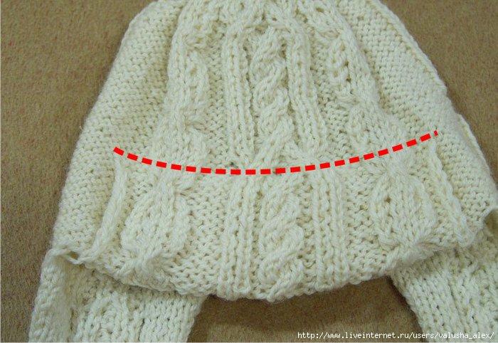 пример вязания шапки-ушанки; - вязание двойной шапочки ... - вязание...