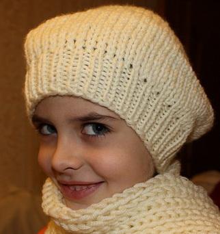 """Вязание. на.  """"шапка-носок и шарф """". на на на."""