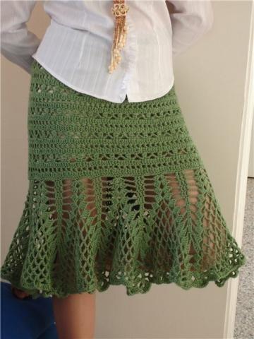 Вязание крючком юбки.  Вам потребуется: пряжа Anny Blatt: 8/9 мотков.