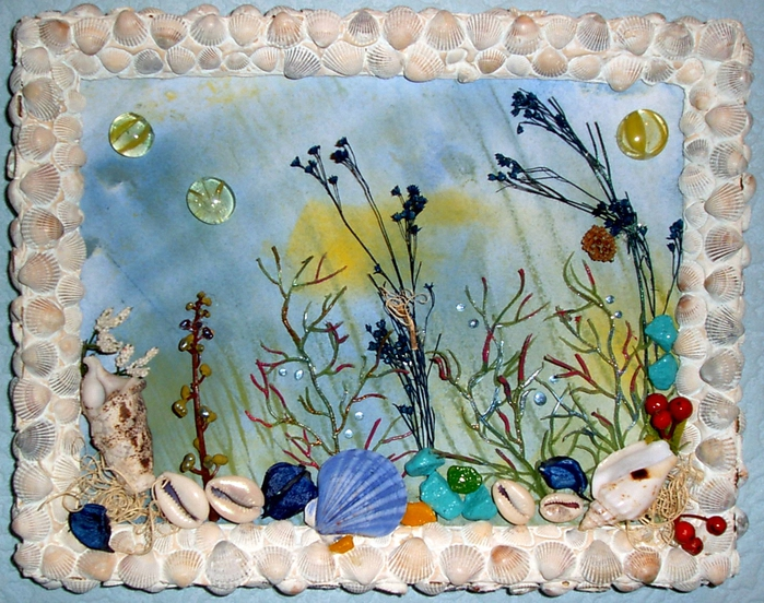 картинки из природного материала морские отца