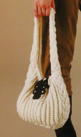 вязанные сумки спицами. рукам вязаные схема со спицами. сумки вязанные...