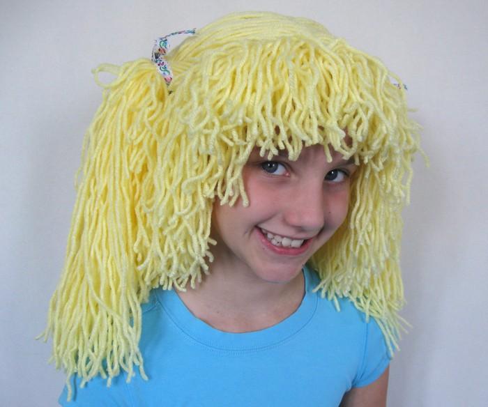 Как сделать парик из ниток для человека своими руками 359