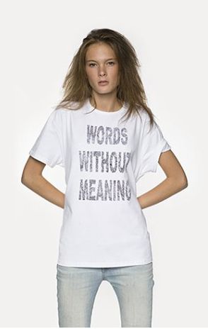 Футболка с надписью Words Without Meaning купить