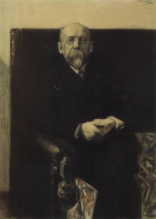 Портрет Ф.К.Сологуба. 1907