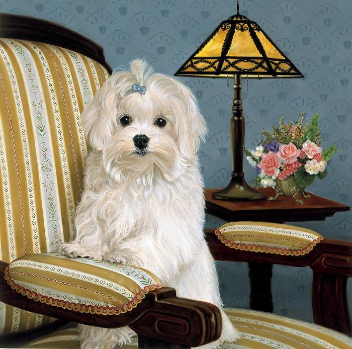 Собачки от художницы Michele Amatrula. (700x694, 198Kb)